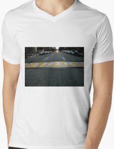 Boston Marathon Finish Line Mens V-Neck T-Shirt