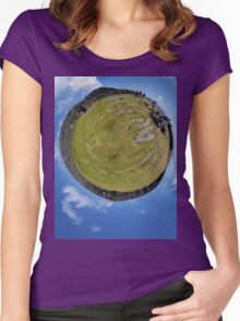 Fortified Ball - Inside Dun Aengus stone fort Women's Fitted Scoop T-Shirt