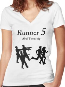 Zombies, Run!  Women's Fitted V-Neck T-Shirt