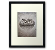 Dotty Deer Framed Print