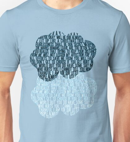 The Fault in Our Stars - Cloud Typography Unisex T-Shirt