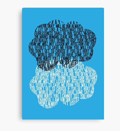 The Fault in Our Stars - Cloud Typography Canvas Print