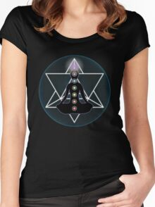 Meditate Yoga Chakras Women's Fitted Scoop T-Shirt
