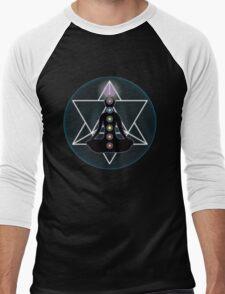 Meditate Yoga Chakras Men's Baseball ¾ T-Shirt