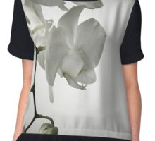 Orchid in White Chiffon Top