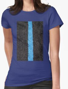 Black Blue Lawn Womens Fitted T-Shirt