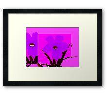 pop flower violet blue Framed Print
