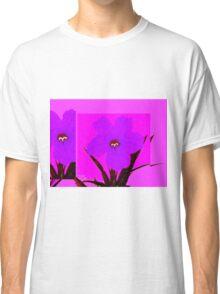 pop flower violet blue Classic T-Shirt