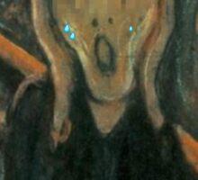 The Scream (1893) {SAD ART} Sticker