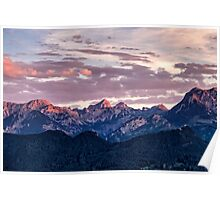 Beautiful landscape image of the Bavarian Alps Poster