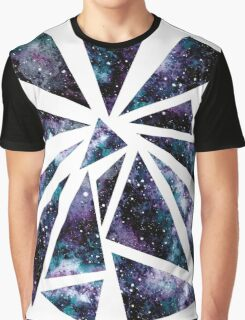 Watercolor Universe In Triangles Graphic T-Shirt