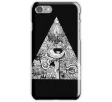 Polygonal black iPhone Case/Skin