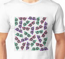 Retro 90s Sunglasses Sketched in Pink Teal Purple Unisex T-Shirt