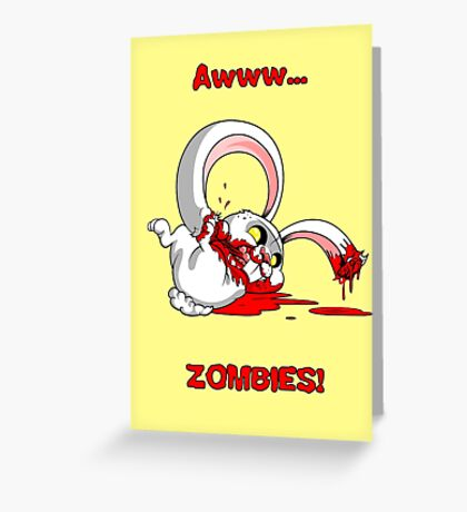 Awww...Zombies Greeting Card