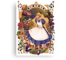 Wonderland Nouveau Canvas Print