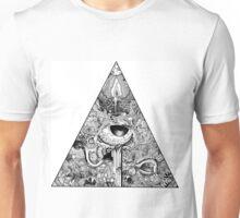 Polygonal white Unisex T-Shirt