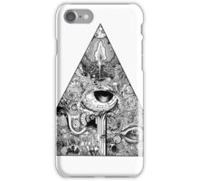 Polygonal white iPhone Case/Skin