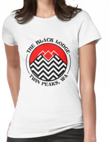 The Black Lodge Club - Twin Peaks Womens Fitted T-Shirt
