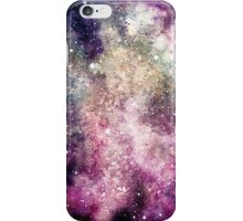 Watercolor Illustration with Colorful Galaxy iPhone Case/Skin