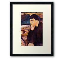 Melancholy (1894) {SAD ART} Framed Print