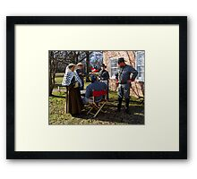 Civil War Re Enactors Framed Print