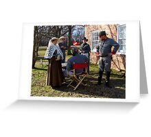 Civil War Re Enactors Greeting Card