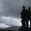 Commandoes Monument at Spean Bridge, Scotland by MagsWilliamson