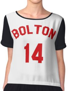 High School Musical: Bolton Jersey Red Chiffon Top