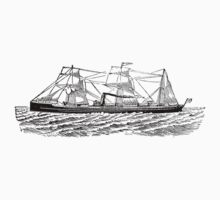 Victorian Era Ship - 1 Kids Tee