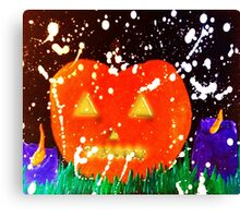 The Glowing Pumpkin - All Hallows Eve Canvas Print