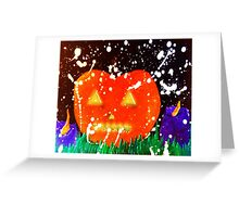 The Glowing Pumpkin - All Hallows Eve Greeting Card