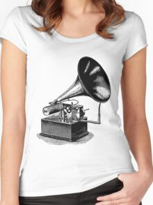 Vintage Phonograph - Later Model Women's Fitted Scoop T-Shirt