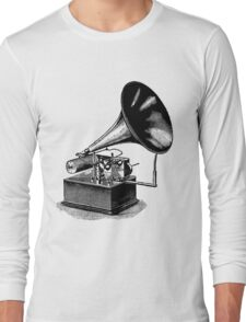 Vintage Phonograph - Later Model Long Sleeve T-Shirt