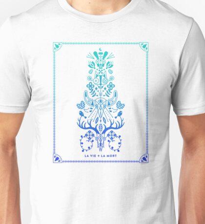 La Vie & La Mort – Blue Ombré Unisex T-Shirt