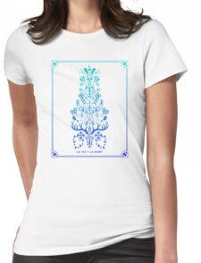 La Vie & La Mort – Blue Ombré Womens Fitted T-Shirt