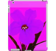 flower dark orchid on magenta iPad Case/Skin
