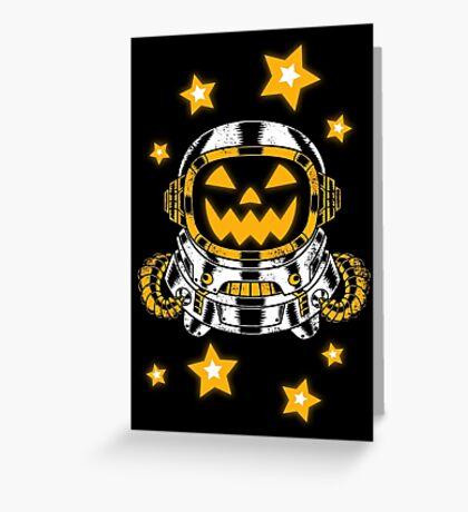 Space Halloween Greeting Card