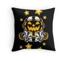 Space Halloween Throw Pillow