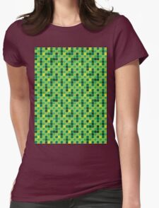 Pattern Mosaic Texture Womens Fitted T-Shirt