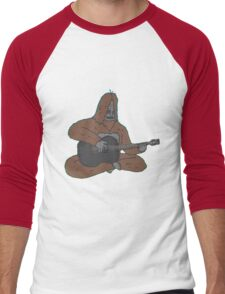 Sassy with a guitar Men's Baseball ¾ T-Shirt