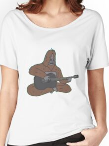 Sassy with a guitar Women's Relaxed Fit T-Shirt