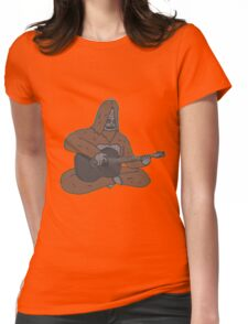Sassy with a guitar Womens Fitted T-Shirt