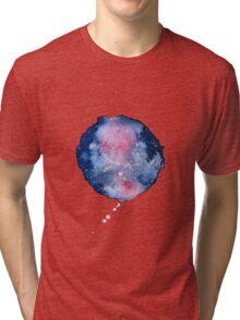 space watercolour circle Tri-blend T-Shirt