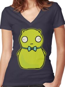 Kuchi Kopi Women's Fitted V-Neck T-Shirt