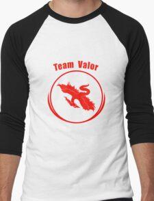 Pokemon go Team Valor logo Men's Baseball ¾ T-Shirt