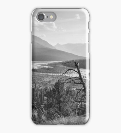 North Saskatchewan River 1 (B&W) iPhone Case/Skin