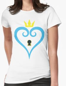 Kingdom Hearts-Heart Keyhole Without wings -fan art- Womens Fitted T-Shirt