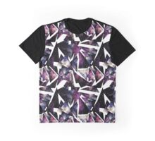 Watercolor Colorful Nebula in Triangles Graphic T-Shirt