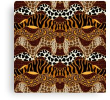 Seamless wavy vector pattern with animal prints.  Canvas Print