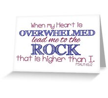 Lead me to the Rock Greeting Card